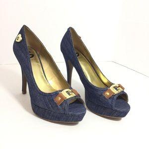 Guess jean heels